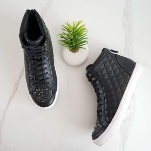 REBECCA MINKOFF Sandi High Top Black Sneakers Shoe